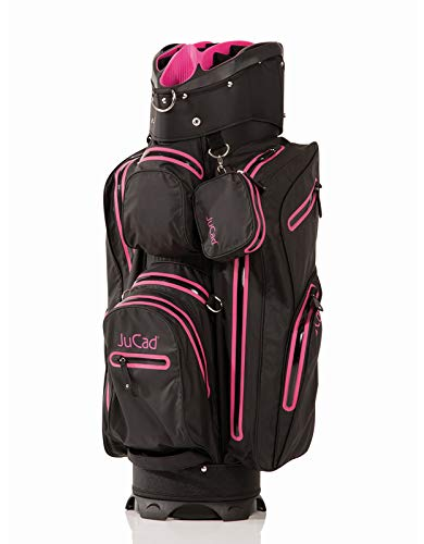 JuCad Bag Aquastop I Wasserdicht I Außentaschen I Schirmhalterung Schwarz-Pink