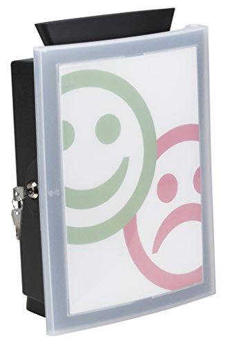 HAN Sammelbox IMAGE'IN – die Wahlurne, Spendenbox, Losbox oder Aktionsbox in Bestform. Zur Wandmontage oder freistehend, schwarz, 4102-13