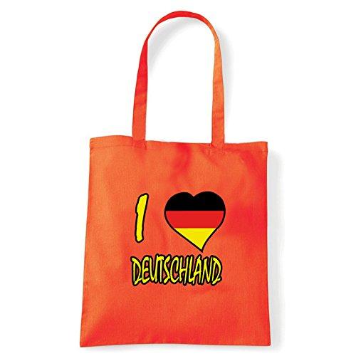 Art T-shirt Shoulder I Love Deutschland,...