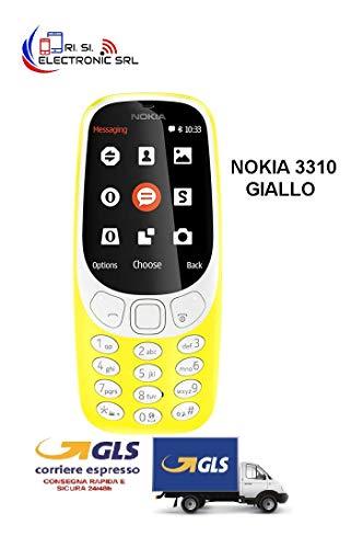Nokia 3310 Telefono Cellulare, Marchio Tim, 16 MB, Giallo [Italia]