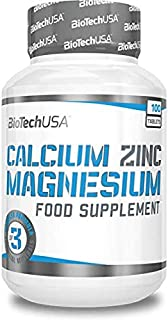 BioTech Calcium Zinc Magnesium Complejos. Sabor sin Sabor - 100 gr