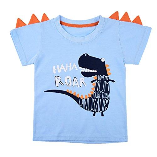 Tkria Jungen Kinder Sweatshirt Baby Baumwolle Pullover T-Shirt Top mit Dinosaurier/Krokodil 98 104 110 116 122 128