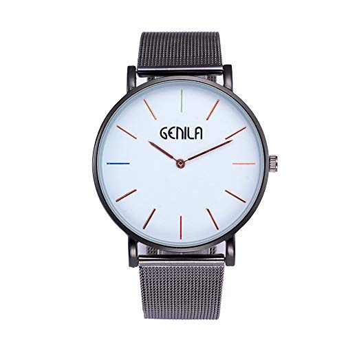 MOSTFA Men Watch Stainless Steel Outdoor Exercises Watches Clock Male Quartz Alloy Belt Casual Wristwatch Best Sports Gift