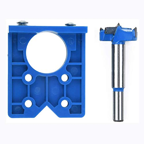Concealed Hinge Drilling Jig Hole Puncher Locator Opener with 35mm Concealed Hinge Jig Bit Drill Woodworking Boring Bits Drilling for Cabinet Hinges Door Window Hinge Hole Saw Locator