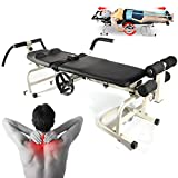 Dyrabrest Traction Bed, Lumbar Cervical Massage Stretching Stretcher Device Body Massage Bed Table for Lumbar Spine Cervical Discomfort Lumbar Disc Herniation