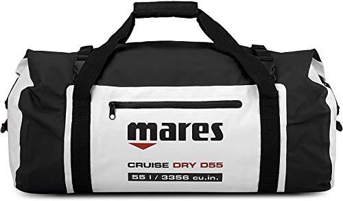 Mares Unisex– Erwachsene Cruise Dry D55 Tauchrucksäcke, schwarz/weiß, One Size