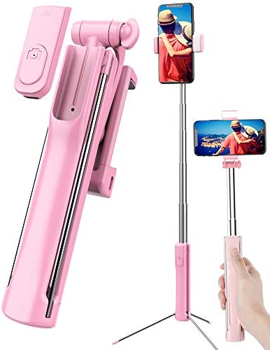 Selfie Stick Tripod Extendable Selfie Stick with Detachable Wireless Remote Shutter Travel Video product image