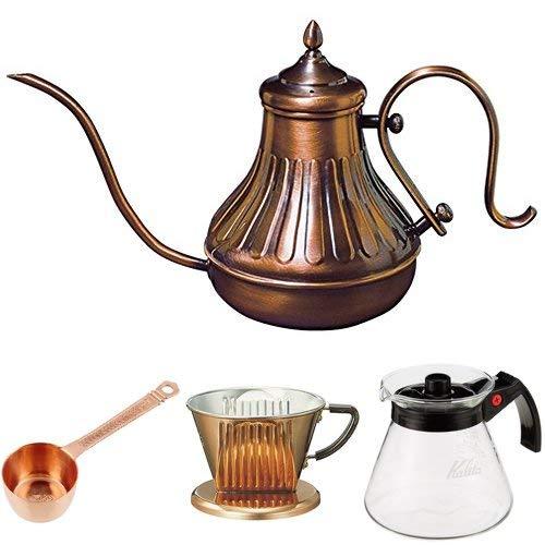 カリタ コーヒーポット 銅ポット900ml+銅ドリッパー+銅メジャーカップ+フィルターセット