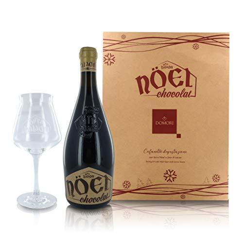 Domori Kit Degustación de Cerveza Nöel Chocolat Baladin: Botella de 75cl con Copa