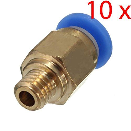 C.J. SHOP 10PCS PC4-M5 Pneumatic Straight Fitting for 4mm OD Reprap 3D Printer Bowden Line Tube