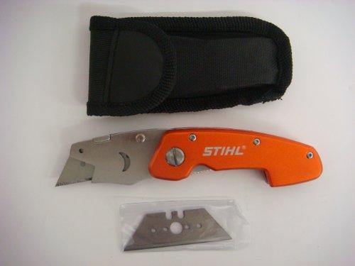 Stihl 04641220020 Cuttermesser Taschenmesser mit Etui + Ersatzklinge Neu