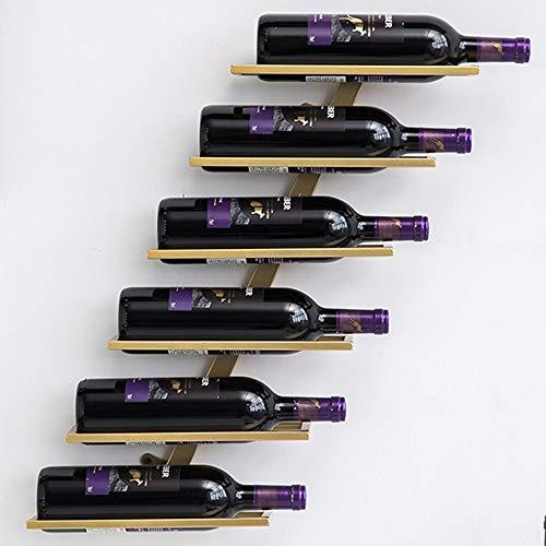 BESTSOON Tabletop Wine Rack Metal Wine Rack Wine Cabinet Wine Glass Rack Wine Storage Metal Grape Rack Wine Display for Worktops, Pantries and Fridges (Color : Gold, Size : 27x8x58cm)