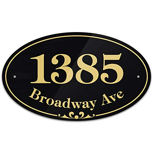Custom Address Plaque Sign - Personalized Address Numbers for Houses, Outside Use, 1/8