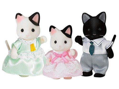 Sylvanian Families Tuxedo 5306 SylvanianFamilies Doll House - Juego de 3 Figuras de Gatos