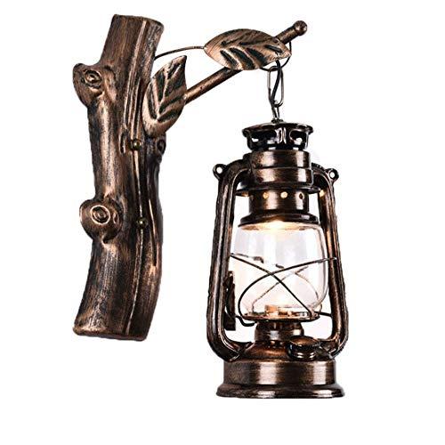 ZZYJYALG. Individuale lampada da parete in ferro creativo lampada retrò lampada da parete lampada al cherosene industriale nostalgico semplice soggiorno camera da letto comodino applique da parete am