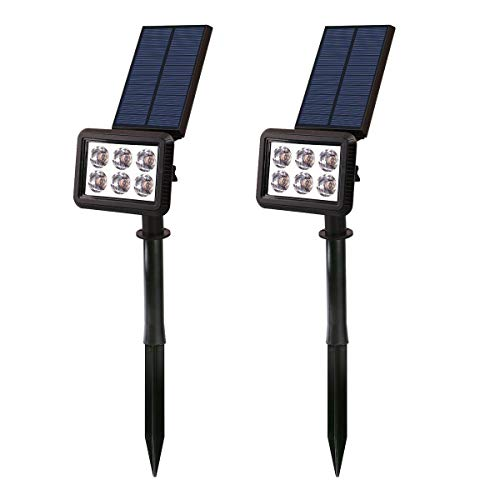LUMISKY DUBBELE SOLAR SPOTLIGHT LED BUITENVERLICHTING SQUARY