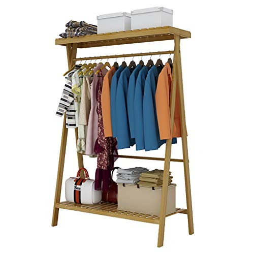 Kapstok, kledinghanger van bamboe, thuisgebruik, kledinghaken 90cm*45cm*140cm