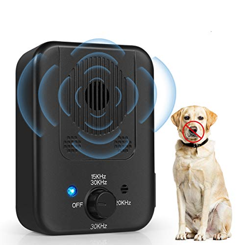 Bark Control Device, 2020 Upgraded Mini Bark Control Device, Outdoor Anti Barking Ultrasonic Dog Bark Control with 3 Ultrasonic Frequency Levels, Sonic Bark Deterrents Silencer Stop Barking Anti Bark