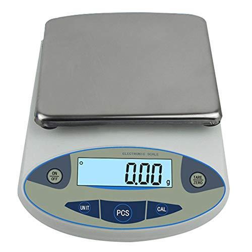 Bilancia da laboratorio di precisione digitale Bilancia da laboratorio elettronica Bilance da cucina di precisione Bilance elettroniche da 0,01 g calibrate e pronte all'uso (5000g)