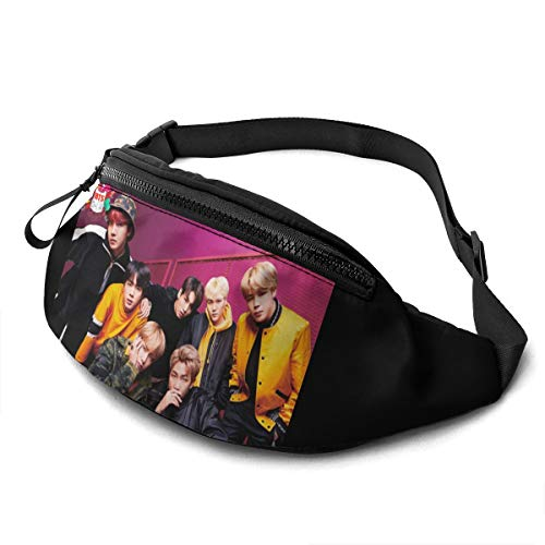 Qwtykeertyi BTS Waist Pack Bag Fanny Pack for Men and Women Water Resistant Outdoor Exercise Travel Jogging Hiking Waterproof Flexible and Soft