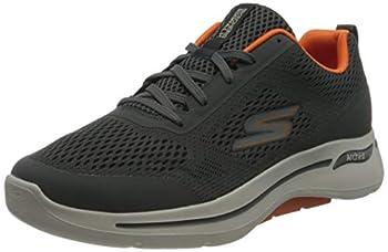 Skechers Men s GO Walk Arch FIT Idyllic Sneaker Charcoal/Orange 9.5