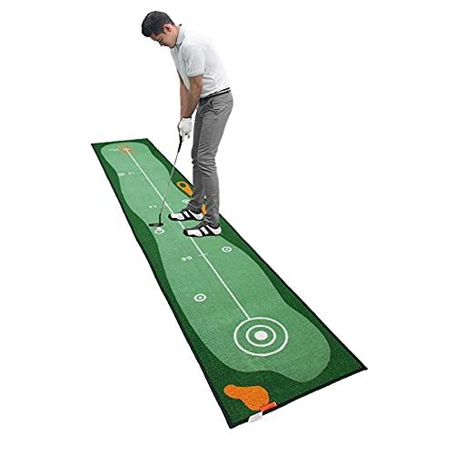 LXQGR Academy Golf Practice Mat (300 cm x 50 cm) – Practica como los profesionales con la esterilla de teeing portátil con césped artificial