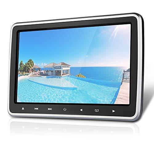 Podofo Reproductor de DVD con Reposacabezas de 10.1 Pulgadas, Reproductor de DVD Portátil con Entrada HDMI y Entrada/Salida AV, Compatible con SD/USB, con Control Remoto/CD de Juegos