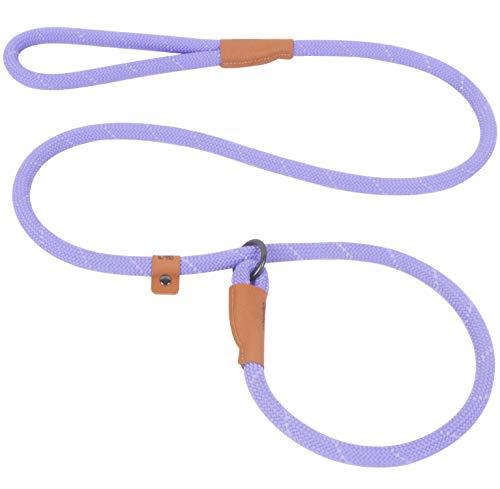 Slip Lead Dog Leash, Reflective Mountain Climbing Rope Leash, Dog Training Leash - 5FT, 2 Sizes (Large, Lavender)