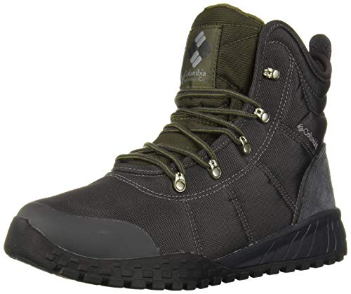 Columbia Men's Fairbanks Omni-Heat Snow Boot, Shark, Peatmoss, 10.5 Regular US