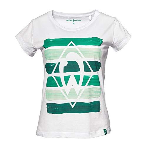 Werder Bremen Streifen Women Shirt (38, weiß)