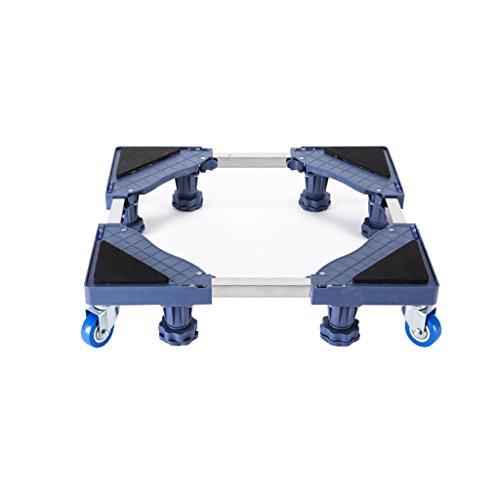 NUBAO multifunctionele beweegbare verstelbare voet vaste voeten, roterende wiel combinatie van toepassing op wasmachine droger koelkast Airconditioning 2 stijlen grijs
