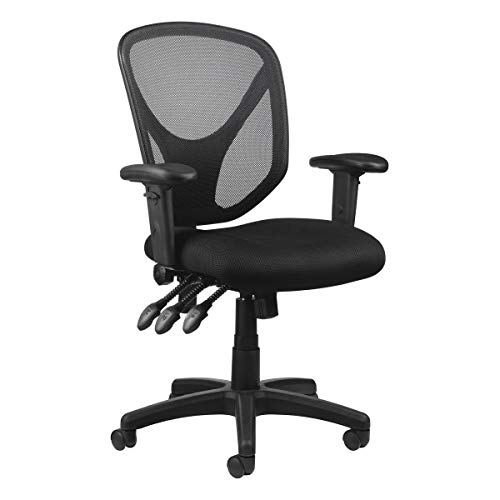Realspace MFTC 200 Multifunction Ergonomic Super Task Chair, Black