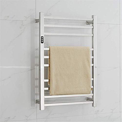 Inicio Equipos Calentador de toallas Calentador de toallas de 10 barras con calefacción Calentador de toallas montado en la pared en un riel calefactor eléctrico eficiente de 88 W para baño Interru