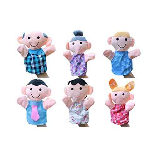 STOBOK 4 Unidades de Marionetas de Mano Familiares Mamá Papá Hermana Muñeca de Peluche Guantes de Títeres para Niños Escuela Muestra Juegos de Cuentos de Utilería