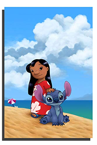 Lilo and Stitch Classic Movie Art Poster Wall Art for Kitchen Wall Decor Bathroom Bedroom Decor Prints Canvas Wall Art 18x24 inch