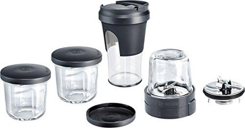 Bosch MUZ45XTM1 TastyMoments 5-in-1 Multi-Zerkleinerer-Set (Mixen, Mahlen, Hacken, Aufbewahren, ToGo-Lösung) für Küchenmaschinen MUMX, MUM5, MUM4