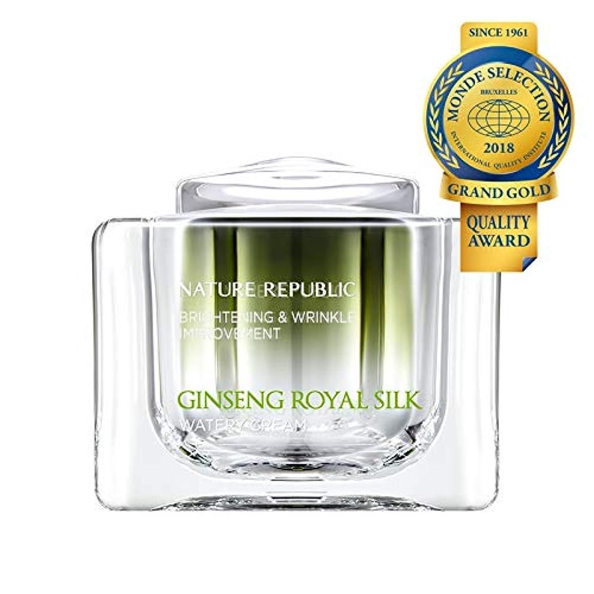 バックアップうれしい差別化するネイチャーリパブリック(Nature Republic)ジンセンロイヤルシルクウォーターリークリーム 60g / Ginseng Royal Silk Watery Cream 60g :: 韓国コスメ [並行輸入品]