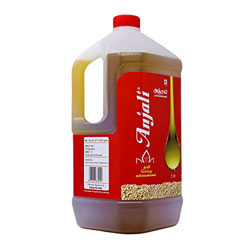 Anjali Cold Pressed Gingelly / Sesame Oil (5 Litre CAN)