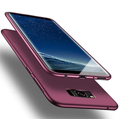 X-level Custodia per Samsung Galaxy S8,Morbido TPU Cover Slim Anti Scivolo Protezione Posteriore [Anticaduta, Antiscivolo, AntiGraffio, Antiurto] Custodia per Samsung Galaxy S8,Vino Rosso