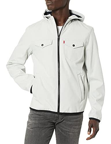 Levi's Men's Lightweight Hooded Softshell Trucker Jacket, ice, Medium