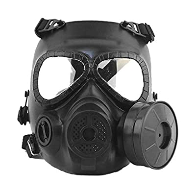 M04 Airsoft Tactical Protective Mask,Toxic Gas Safety Mask,Full Face Eye Protection Skull Dummy Game Mask with Adjustable Strap for BB Gun CS Paintball Cosplay Costume Halloween Masquerade (1 Filter)