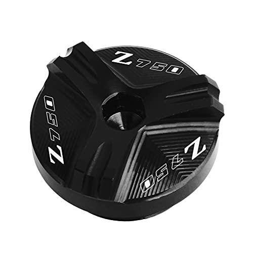 Tapón De Llenado De Aceite CNC Motocicleta Tapón De Drenaje De Aceite del Motor Tapón De Drenaje De Aceite De Motor para K-awasaki Z750 Z750 S 2004-2010 (Color : Negro)