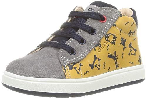 Geox Baby-Jungen B BIGLIA Boy B First Walker Shoe, (Dk Yellow/Grey), 22 EU