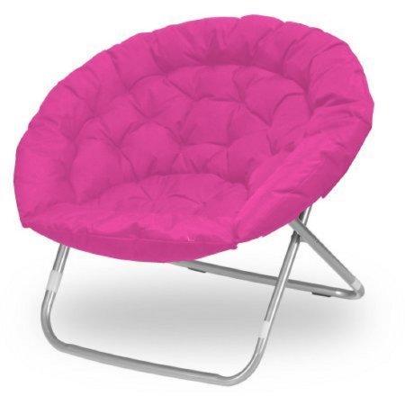 Urban Shop, Pink Oversized Saucer Chair