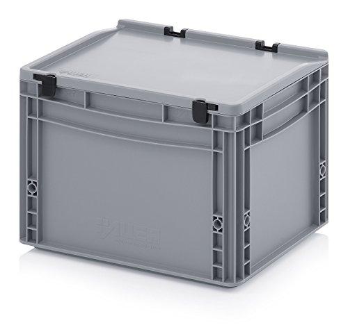 Eurobehälter-Eurobox 40 x 30 x 28,5 cm mit Scharnierdeckel inkl. gratis Zollstock