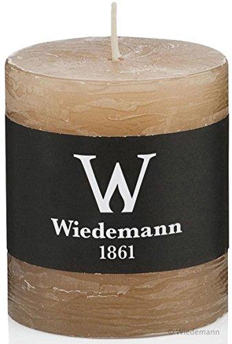Wiedemann Restposten - 4 Kerzen Marble Rustic80/78mm (durchgefärbt) zum Spitzenpreis (Sand)
