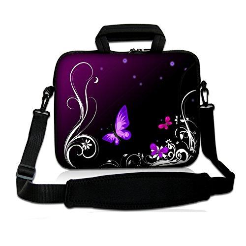goldwheat 17.3-Inch Waterproof Laptop Sleeve Bag Neoprene Computer Carrying Case with Handle & Shoulder Strap