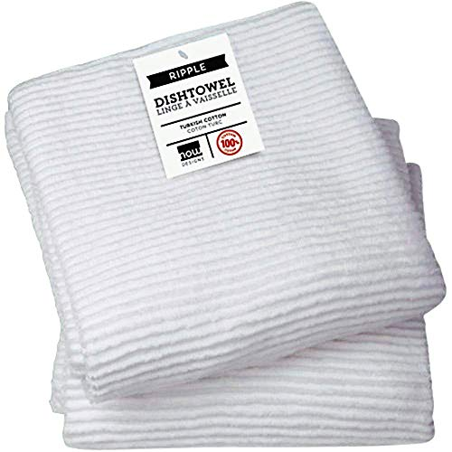 Now Designs Ripple Kitchen Towel, Set of 2, White