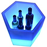 WFLJ Gran Capacidad 30L Cubitera de Hielo, Recargable Luz LED Que Cambia Color Cubitera de...