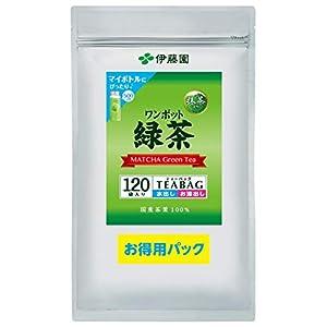 伊藤園 お得用 ワンポット 抹茶入り緑茶 ティーバッグ 2.5g×120袋